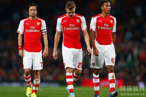 阿森纳本赛季联赛表现不佳,最终排名英超第十