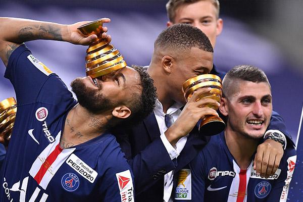 巴黎圣日耳曼击败里昂夺冠 大巴黎获得法联杯冠军