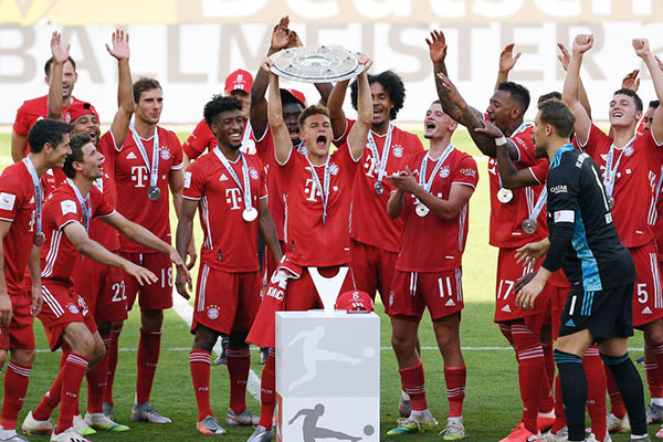 德甲联赛拜仁获得冠军