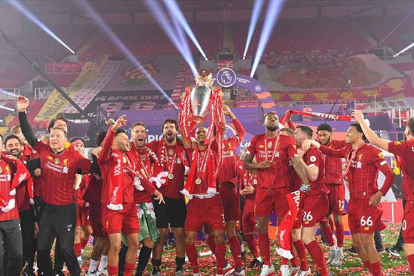 英超联赛利物浦获得冠军