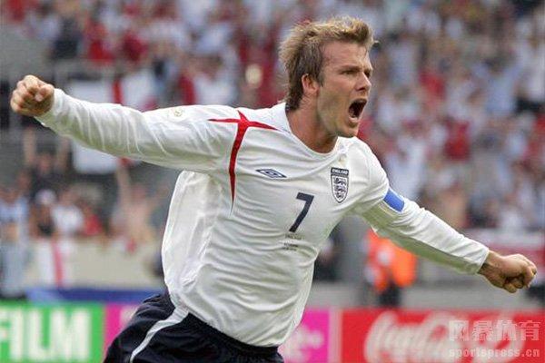 英格兰球星近些年最著名的就是贝克汉姆