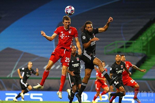 拜仁在欧冠半决赛3比0击败里昂