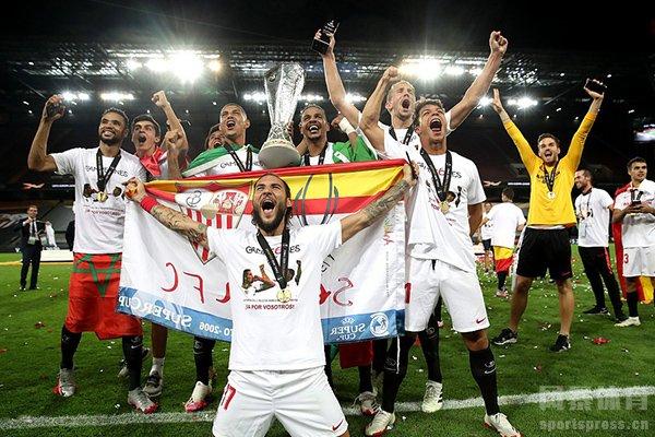 本赛季欧联杯决赛塞维利亚3比击败国际米兰获得冠军
