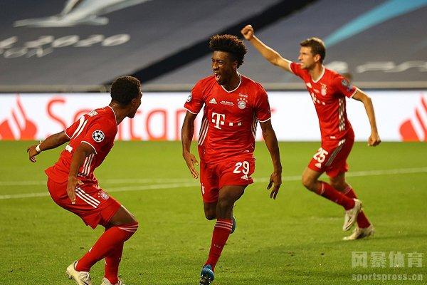 在比赛之中拜仁1比0击败巴黎圣日耳曼