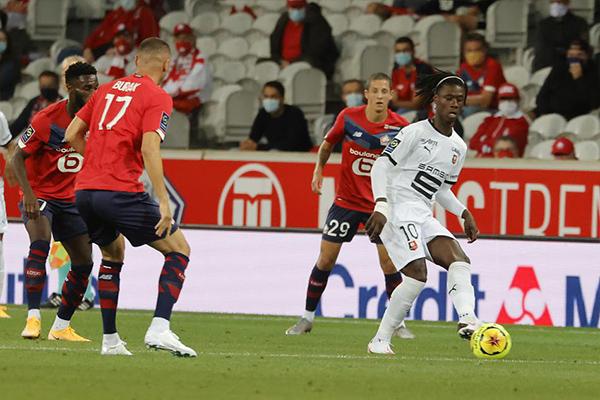 法甲联赛正式开始2020/2021赛季,里尔1比1战平雷恩