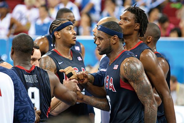 美国梦八队在比赛中