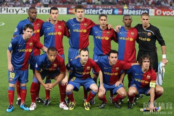 当时的西班牙阵容由7名巴萨队员和4名皇马队员组成
