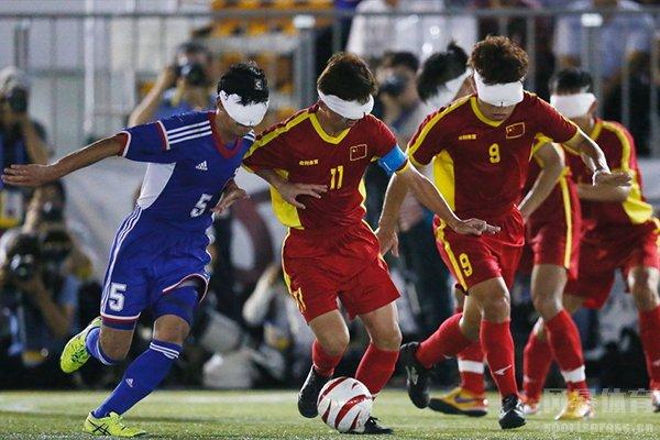 中国盲人足球队实力也是不可小视