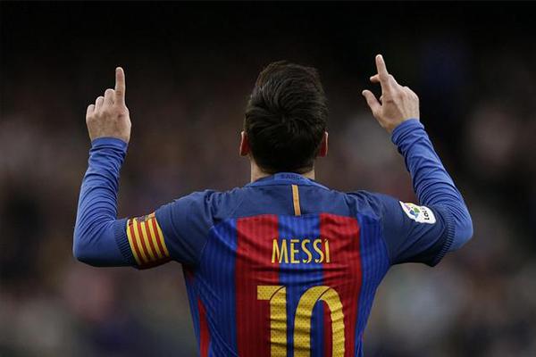 梅西又破记录 梅西在诺坎普的300场胜利