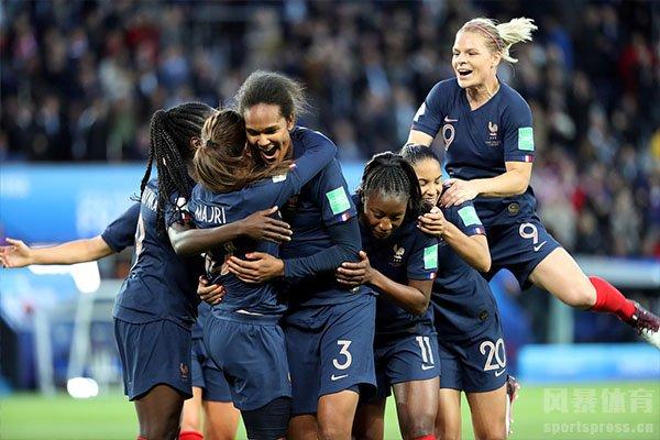本届女足世界杯东道主法国队表现极为出色