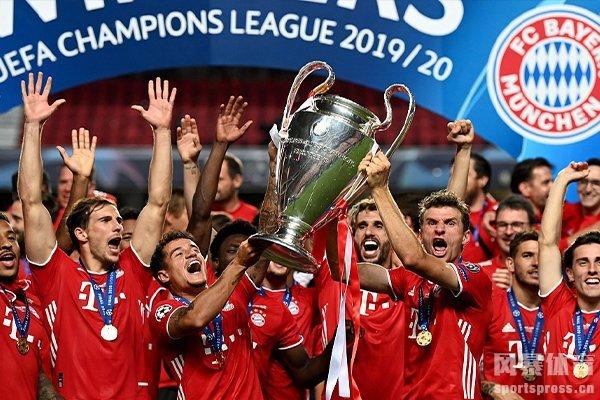 拜仁在19/20赛季获得欧冠冠军