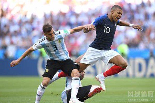 2018世界杯淘汰赛法国队4-3击败阿根廷队