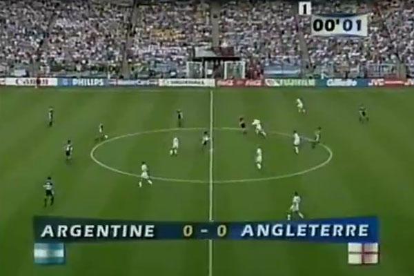 一部好莱坞大片!1998年世界杯英阿大战最经典的对决