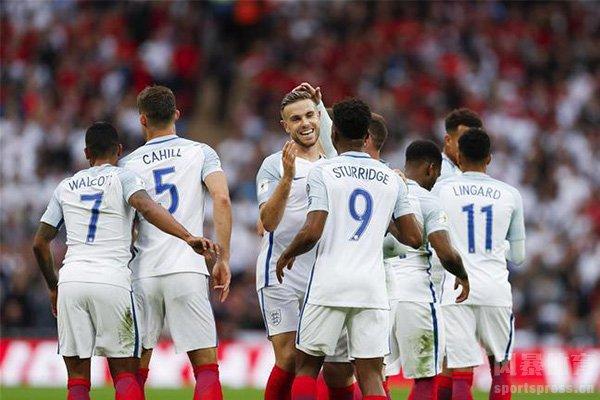 英格兰队目前排名世界第四