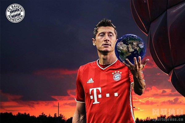 本赛季目前德甲射手榜第一是莱万