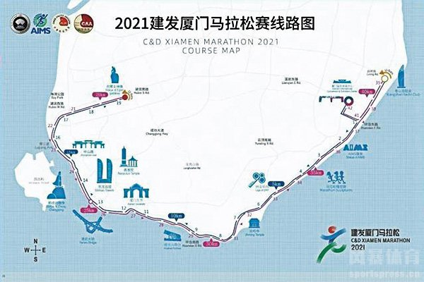 厦门马拉松路线图