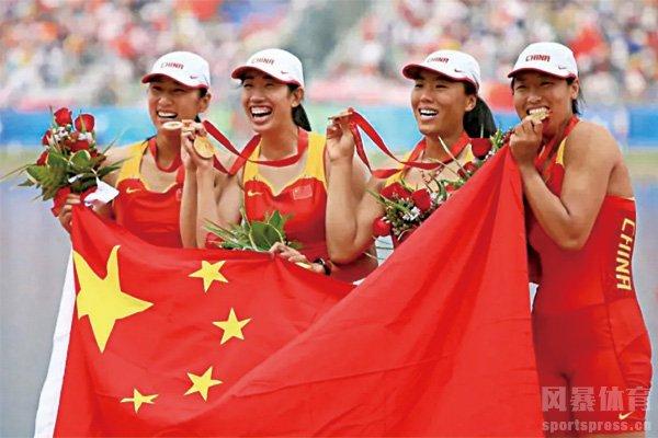 金紫薇随队友拿到奥运会金牌