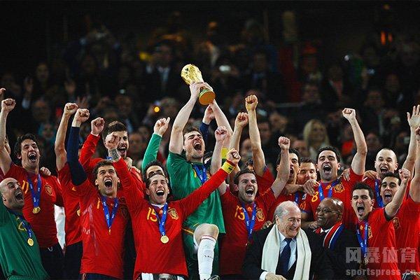 西班牙队在2010获得世界杯冠军