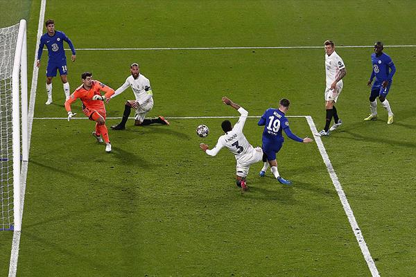 欧冠半决赛次回合切尔西2-0击败皇马