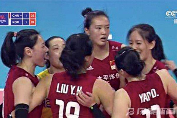 中国女排3-1战胜韩国