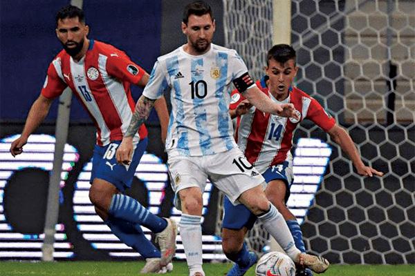 <b>阿根廷1-0巴拉圭 晋级美洲杯8强!梅西追平阿根廷队史记录</b>