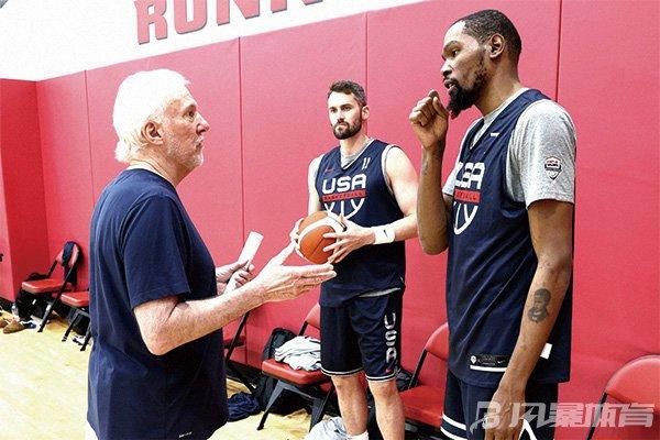 乐福与杜兰特同在美国男篮集训