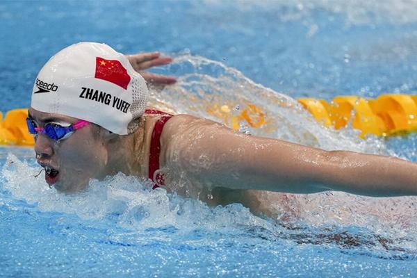 第13金!张雨霏获女子200米蝶泳金牌 打破奥运会记录!