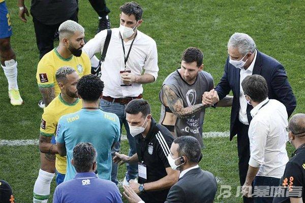 梅西不满巴西监督局中断比赛