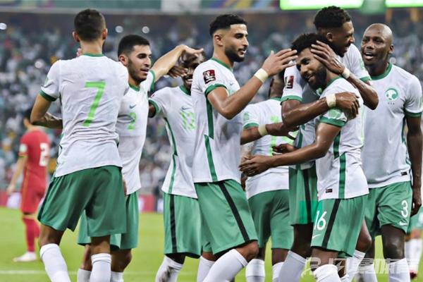 沙特队庆祝胜利